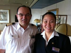 Francois Birarda- Massdam Hotel Director  Annie Sy - Manager Guest Relations