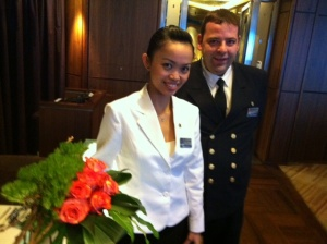 Culinary Operations Manager, Ruben Kooiman and Pinnacle Grill assistant-Gita