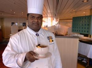 Executive Chef Allen, Holland America Line, MS Veendam.