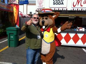 Howard meets the Big E Mascot..