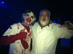 "Howard Steven Frydman meets a ""Ghoul"" at the Haunted Graveyard at Lake Compounce."