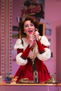 """Anastasia Barzee stars as """"Kate"""" in the Hartford Stage production of """"Kiss Me Kate""""."""