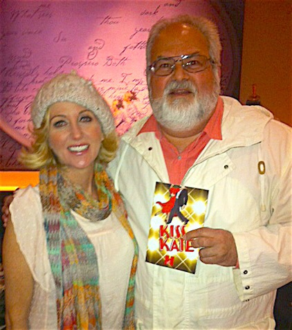 """Kiss Me Kate"" - Anastasia Barzee and BATV General Manager, Howard Steven Frydman."